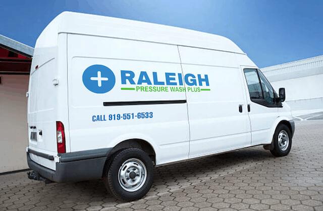 raleigh pressure washing van